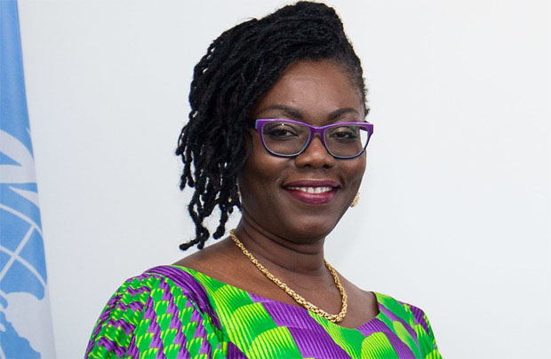 Photo: Mrs. Ursula Owusu-Erkuful (Minister for Communications) Photo credit: Daily Guide
